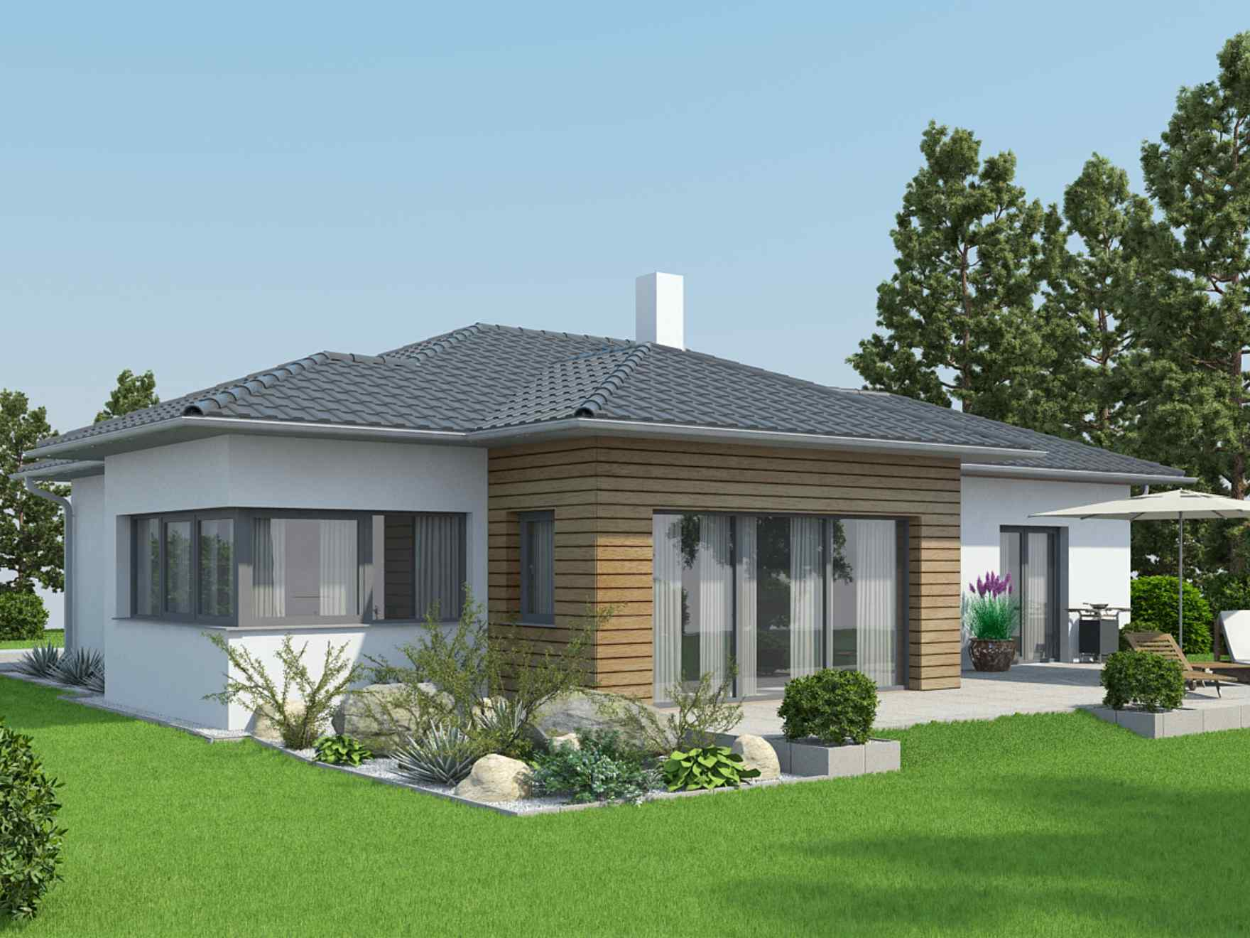 Moving into a bungalow the advantages and disadvantages for Haus bauen beispiele